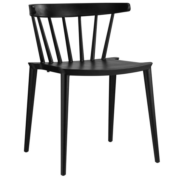 Spindle Modern Black PP Dining Side Chairs EEI-1494-DR-CH-VAR