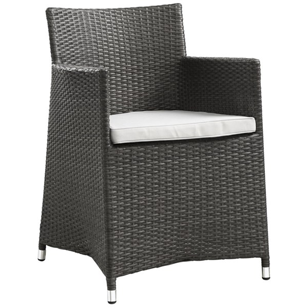 Modway Furniture junction Dining Outdoor Patio Armchair EEI-1505-BRN-WHI