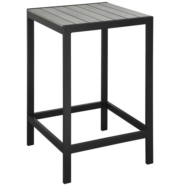 Maine Modern Brown Gray Wood Outdoor Patio Bar Tables EEI-1511-OD-BT-VAR