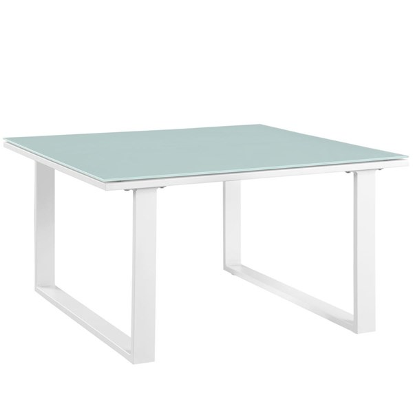 Modway Furniture Fortuna White Outdoor Side Table EEI-1515-WHI-SET
