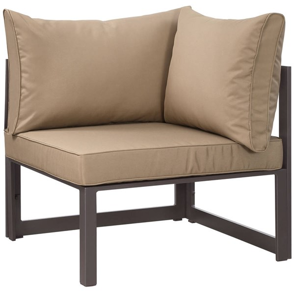 Modway Furniture Fortuna Brown Mocha Outdoor Corner Armchair EEI-1518-BRN-MOC