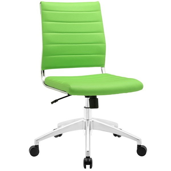 Modway Furniture Jive Bright Green Armless Mid Back Office Chair EEI-1525-BGR
