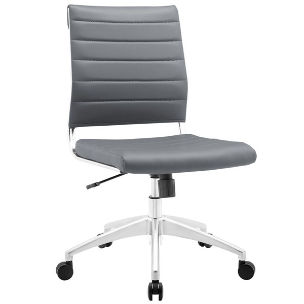 Modway Furniture Jive Gray Armless Mid Back Office Chair EEI-1525-GRY