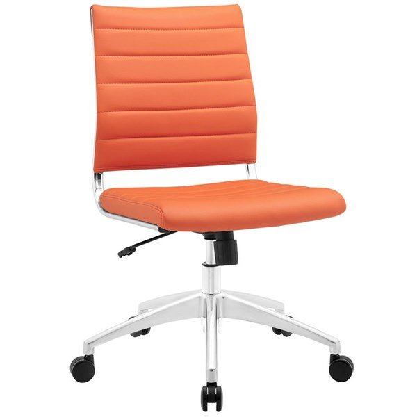 Modway Furniture Jive Orange Armless Mid Back Office Chair EEI-1525-ORA