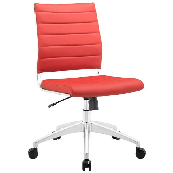 Modway Furniture Jive Red Armless Mid Back Office Chair EEI-1525-RED