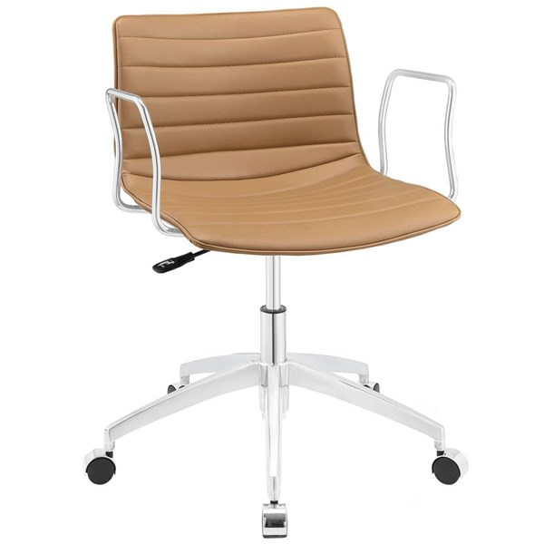 Celerity Modern Tan Vinyl Wood Steel Office Chair EEI-1528-TAN
