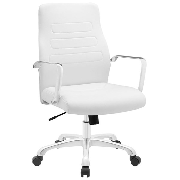 Modway Furniture Depict White Mid Back Office Chair EEI-1531-WHI