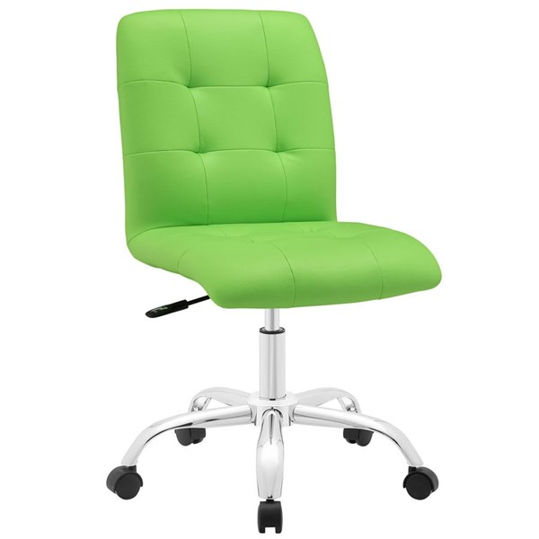 Modway Furniture Prim Bright Green Armless Mid Back Office Chair EEI-1533-BGR