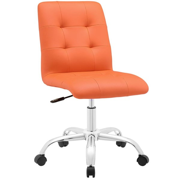 Modway Furniture Prim Orange Armless Mid Back Office Chair EEI-1533-ORA