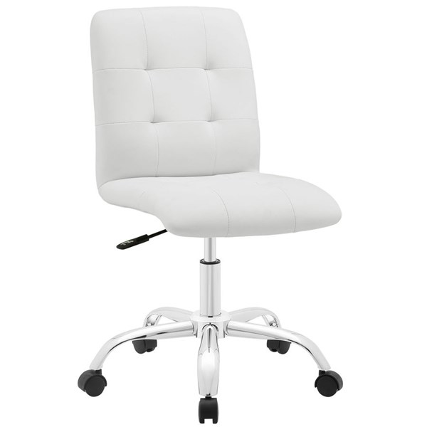 Modway Furniture Prim White Armless Mid Back Office Chair EEI-1533-WHI