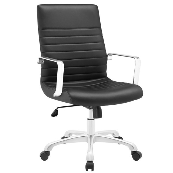 Modway Furniture Finesse Black Mid Back Office Chair EEI-1534-BLK