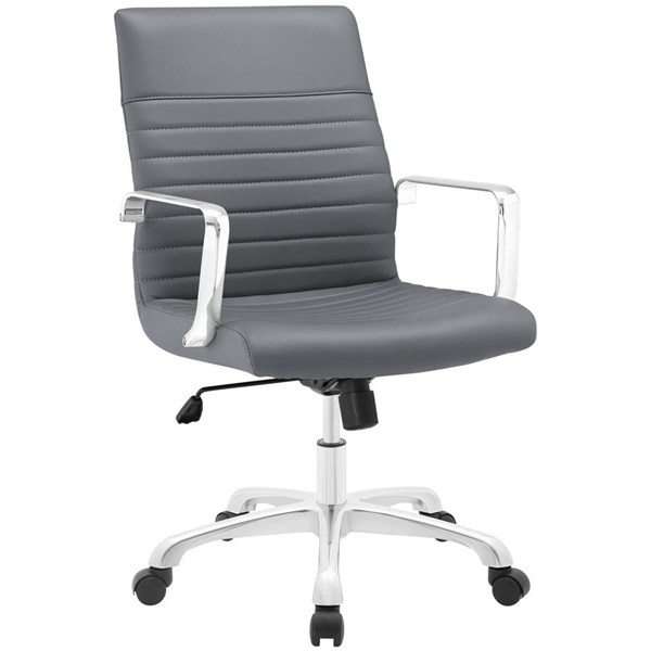 Modway Furniture Finesse Gray Mid Back Office Chair EEI-1534-GRY