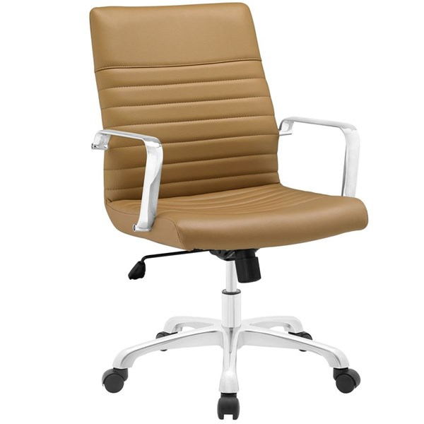 Modway Furniture Finesse Tan Mid Back Office Chair EEI-1534-TAN