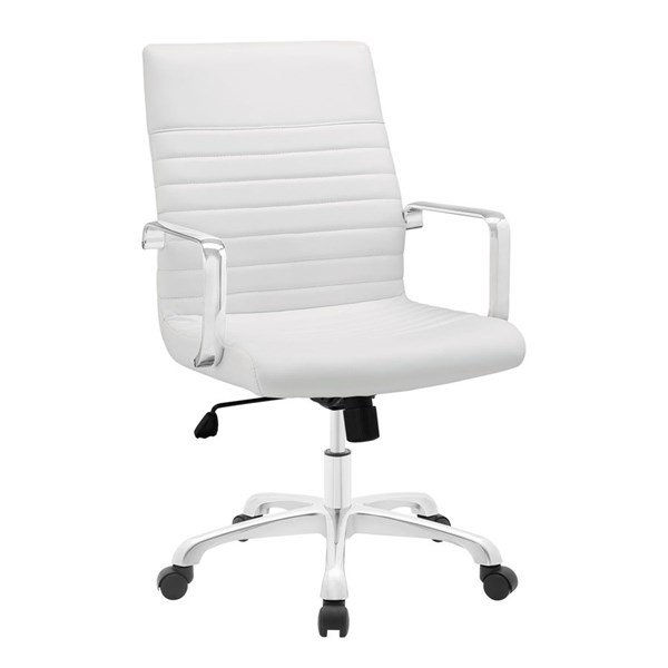 Modway Furniture Finesse White Mid Back Office Chair EEI-1534-WHI