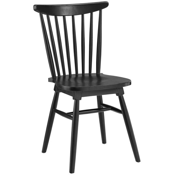 Amble Vintage Black Solid Wood Dining Side Chairs EEI-1539-DR-CH-VAR