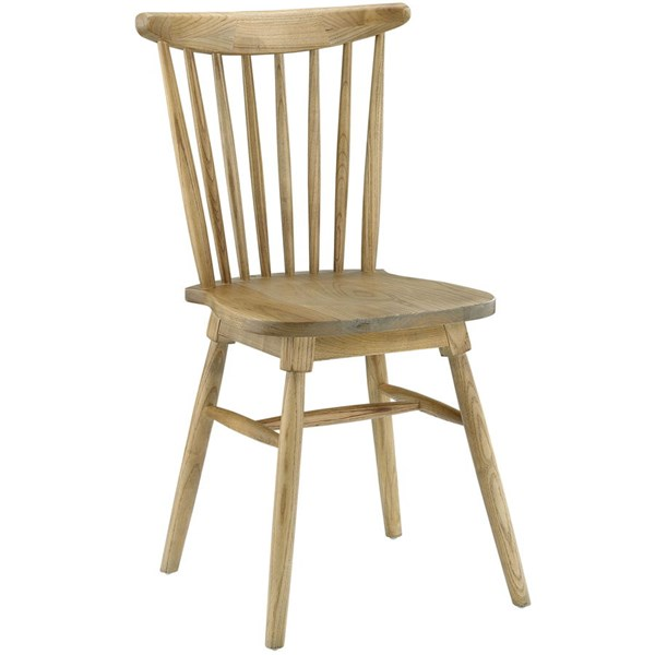 Amble Vintage Natural Solid Wood Dining Side Chair EEI-1539-NAT