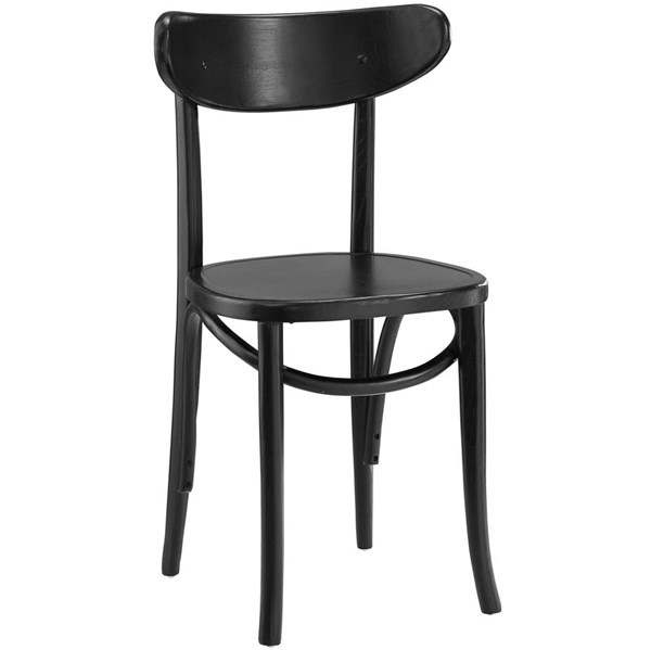 Skate Vintage Black Solid Wood Rattan Dining Side Chairs EEI-1542-DR-CH-VAR