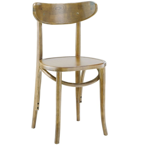 Skate Vintage Natural Solid Wood Rattan Dining Side Chair EEI-1542-NAT