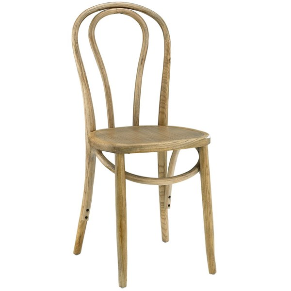 Eon Vintage Natural Wood Rattan Dining Side Chair EEI-1543-NAT