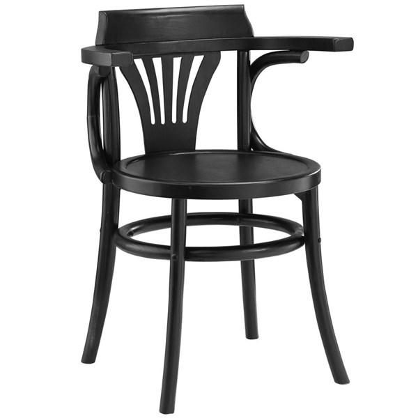 Stretch Vintage Black Wood Rattan Dining Side Chairs EEI-1544-DR-CH-VAR