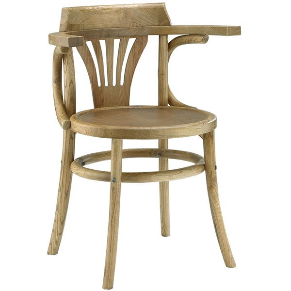 Stretch Vintage Natural Wood Rattan Dining Side Chair EEI-1544-NAT