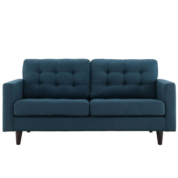 Empress Modern Azure Fabric Solid Wood Upholstered Loveseat EEI-1547-AZU