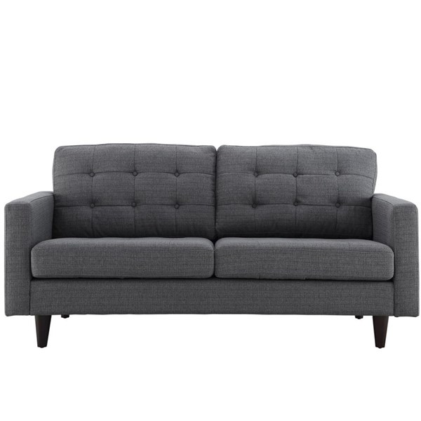 Empress Modern Gray Fabric Solid Wood Upholstered Loveseat EEI-1547-DOR