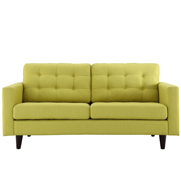 Empress Modern Wheatgrass Fabric Solid Wood Upholstered Loveseat EEI-1547-WHE