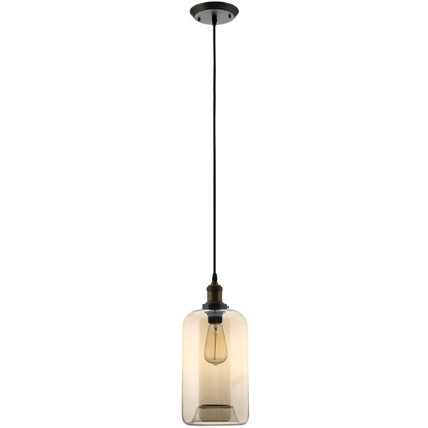 Intrigue Modern Black Steel Glass Chandelier EEI-1558