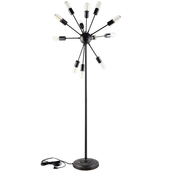 Spectrum Modern Black Steel Floor Lamp EEI-1563