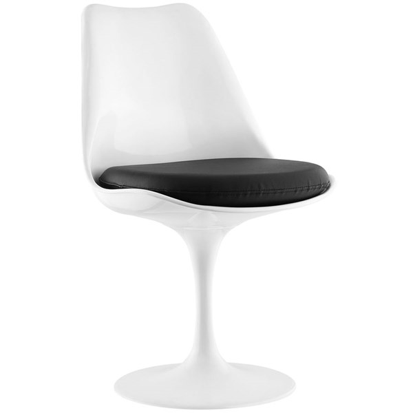 Lippa Modern Black Vinyl Plastic Dining Side Chair EEI-1594-BLK