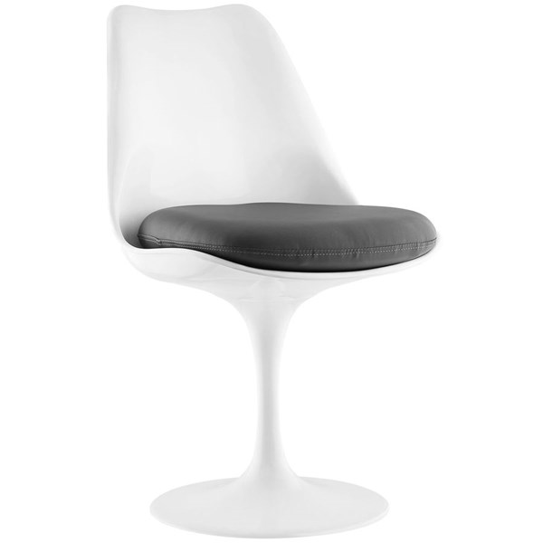 Lippa Modern Gray Vinyl Plastic Dining Side Chair EEI-1594-GRY