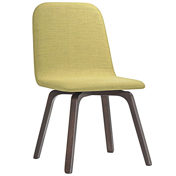 Assert Modern Walnut Green Wood Fabric Dining Side Chair EEI-1613-WAL-GRN