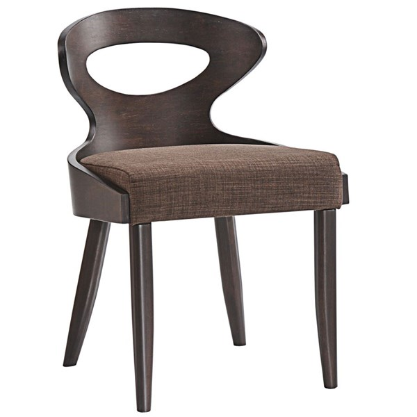Transit Modern Walnut Brown Wood Fabric Dining Side Chair EEI-1620-WAL-BRN