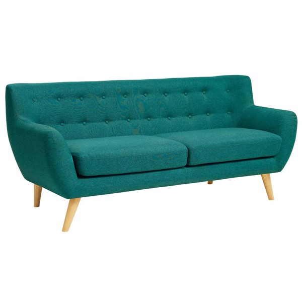 Modway Furniture Remark Teal Fabric Sofa EEI-1633-TEA