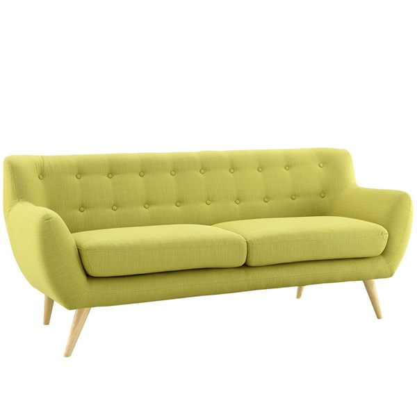 Remark Modern Wheatgrass Fabric Solid Wood Sofa EEI-1633-WHE