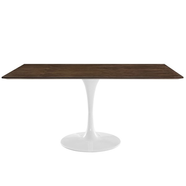 Lippa Traditional Walnut Wood Metal Rectangle Dining Tables EEI-1645-DT-VAR