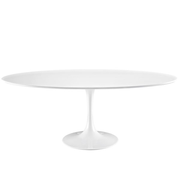 Lippa Traditional White Wood Aluminum 78 Inch Top Dining Table EEI-1657-WHI