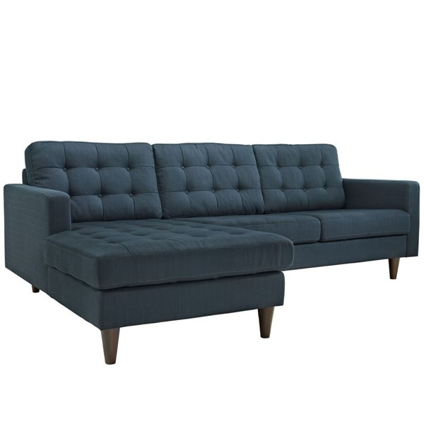 Modway Furniture Empress Azure Upholstered Left Facing Sectional EEI-1666-AZU