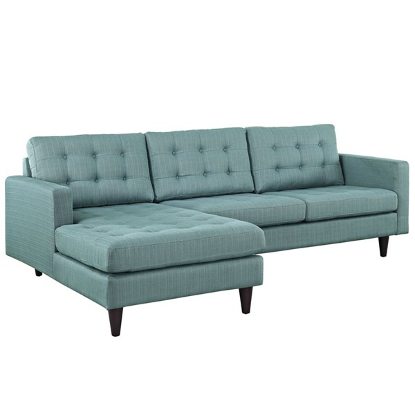 Modway Furniture Empress Laguna Upholstered Left Facing Sectional EEI-1666-LAG