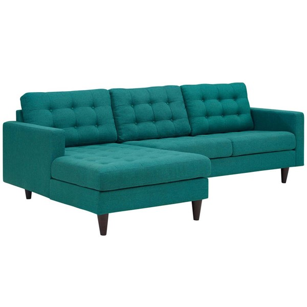 Modway Furniture Empress Teal Upholstered Left Facing Sectional EEI-1666-TEA