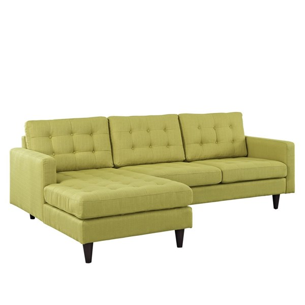 Empress Modern Wheatgrass Fabric Solid Wood Left Facing Sectional EEI-1666-WHE