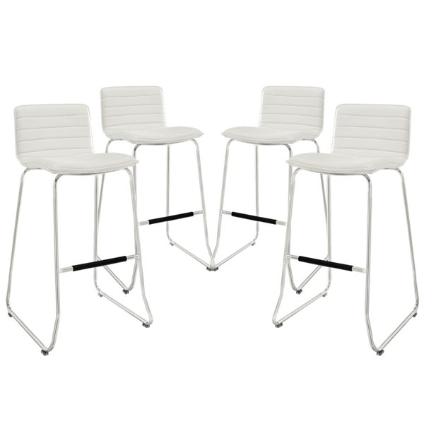 4 Modway Furniture Dive White Bar Stools EEI-1687-WHI