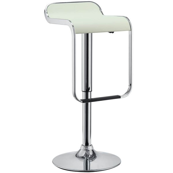 Modway Furniture LEM White Bar Stool EEI-169-WHI