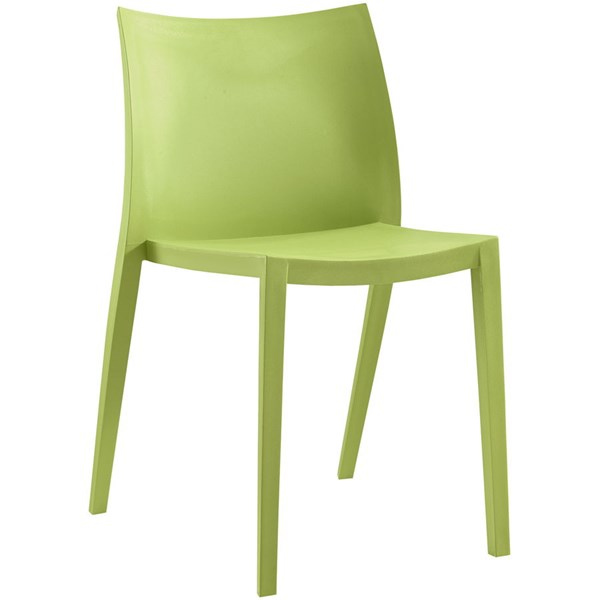 Gallant Modern Green Plastic Solid Seat Dining Side Chair EEI-1700-GRN