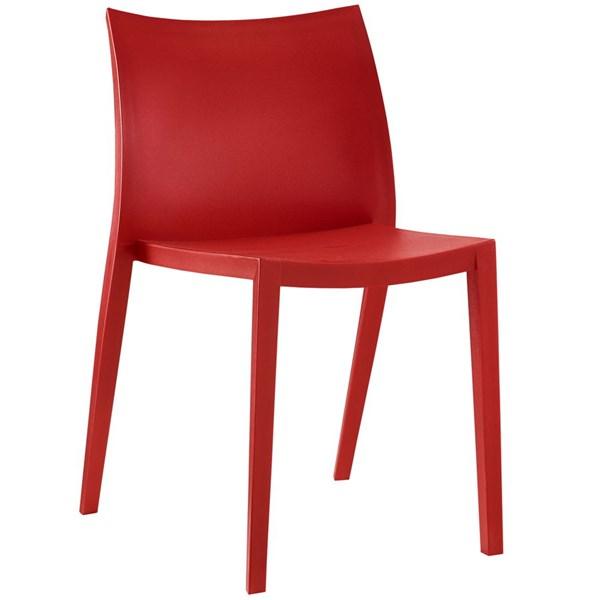 Gallant Modern Red Plastic Solid Seat Dining Side Chair EEI-1700-RED