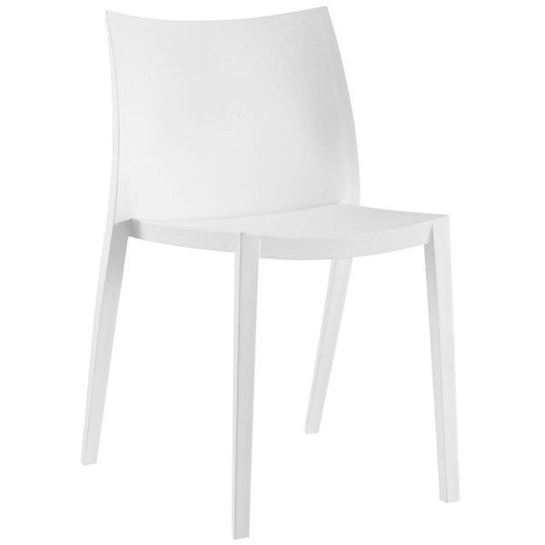 Gallant Modern White Plastic Solid Seat Dining Side Chair EEI-1700-WHI