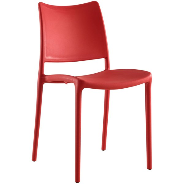 Hipster Modern Red PP Solid Back Dining Side Chair EEI-1703-RED