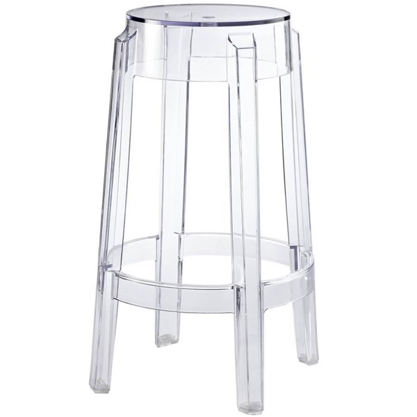 Casper Clear Polycarbonate Counter Stool EEI-171-CLR