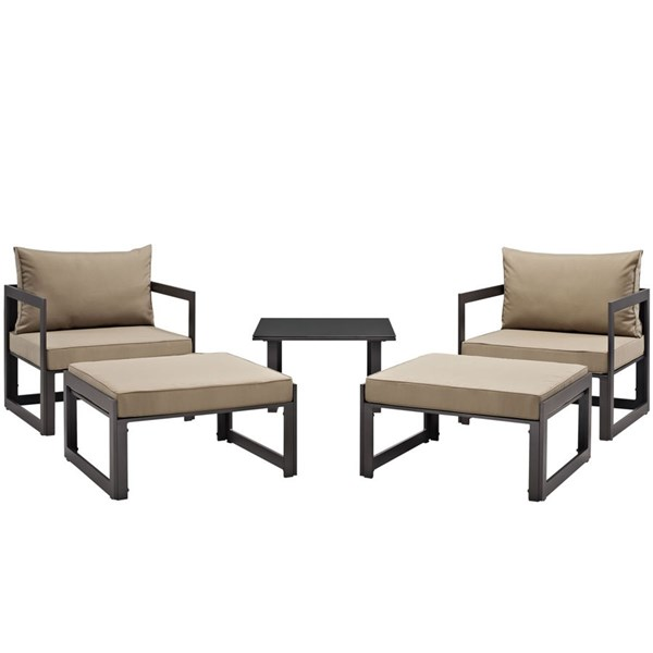 Modway Furniture Fortuna 5pc Outdoor Chair and Ottoman Sets EEI-1721-PO-CHO-VAR